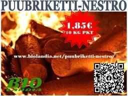 Briquets / Брикеты / Puubriketti NESTRO 1,49 eur / 10 kg pkt