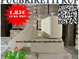 Briquets / Брикеты / Puubriketti RUF (koivu) 1,49 eur / 10 kg pkt
