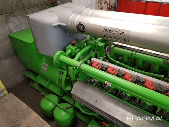Gas genset Jenbacher J320 GS C26 1095 kW 50Hz 400V unused new 2013 YOM sale