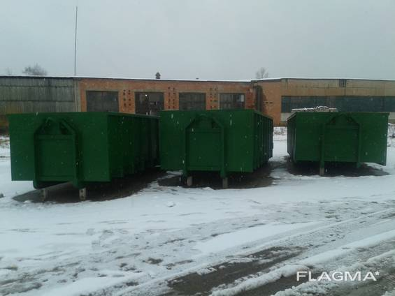 Kontti, Container frame, hook lift container,