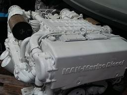 MAN D2848LE403 used Marine Diesel Engine V8 800hp with