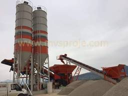 MVS 100M 100m3/hour Mobile Concrete Batching Plant - фото 2