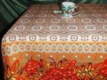 Скатерти, полотенца в украинском стиле, лён- рогожка - фото 2